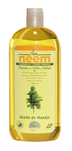 Aceite de masaje de caléndula y neem
