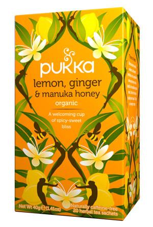 Infusión ayurvédica Lemon, ginger & manuka honey Pukka