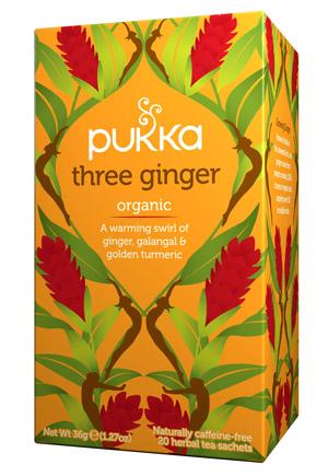Infusión Ayurvédica Three Ginger Pukka