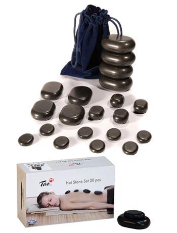 Set piedras volcánicas para masaje 20 pc.