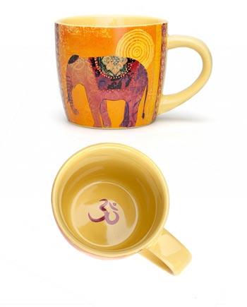 Taza de cerámica de Yoga