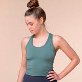 Top corto de yoga con espalda nadadora