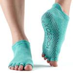 Calcetines de yoga ToeSox Low Rise AQUA sin dedos